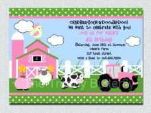 39 Printable Farm Animal Birthday Invitation Template Maker with Farm Animal Birthday Invitation Template