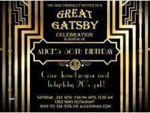 39 Report Great Gatsby Party Invitation Template Free Now for Great Gatsby Party Invitation Template Free