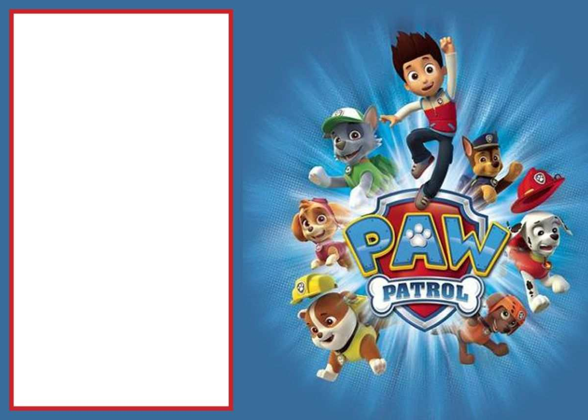 39 Report Paw Patrol Birthday Invitation Template Free With Stunning Design By Paw Patrol Birthday Invitation Template Free Cards Design Templates