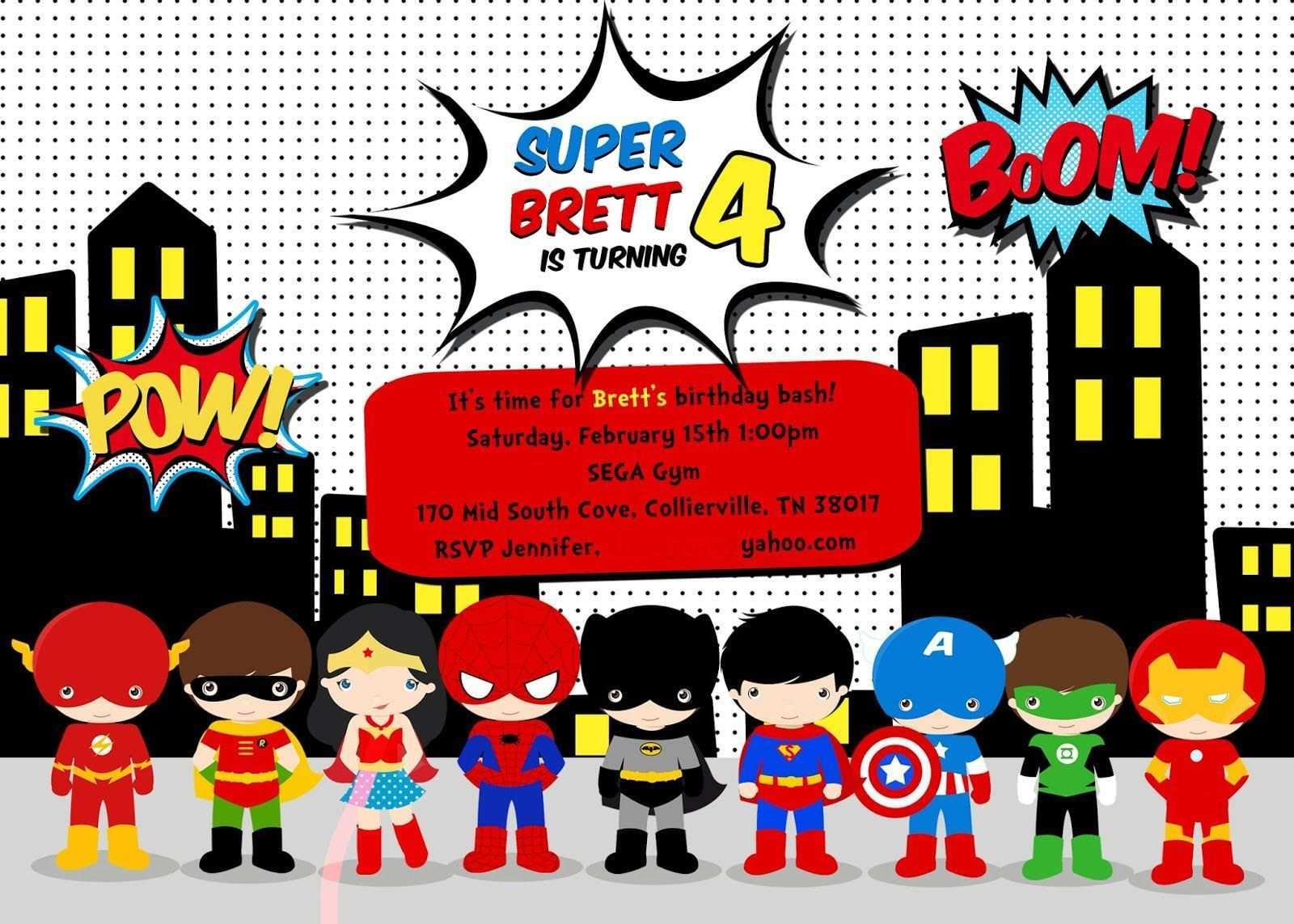 21 Standard Superman Birthday Invitation Template Formating for Throughout Superman Birthday Card Template