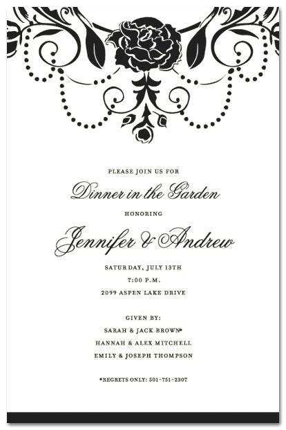 39 Visiting Free Formal Dinner Party Invitation Template With Stunning Design with Free Formal Dinner Party Invitation Template