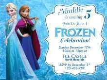 40 Best Birthday Invitation Template Frozen Maker by Birthday Invitation Template Frozen