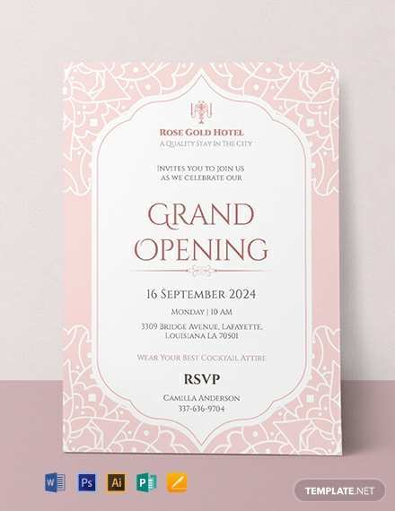 40 Best Example Of Invitation Card For Launching Layouts by Example Of Invitation Card For Launching