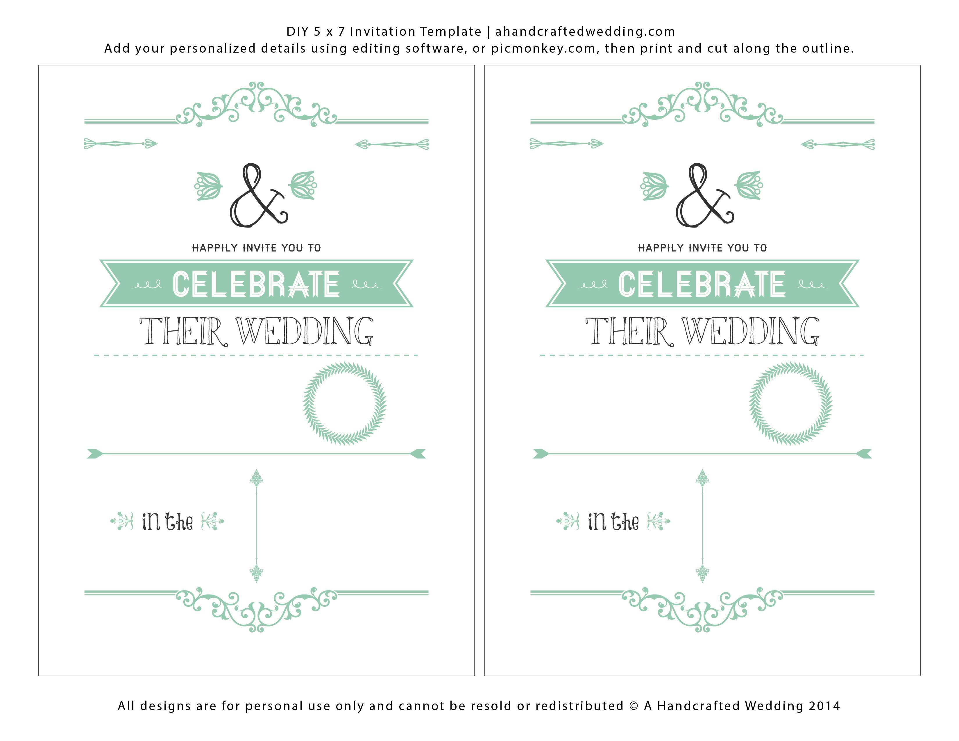 40 Best Wedding Invitation Template Download And Print With Stunning Design by Wedding Invitation Template Download And Print