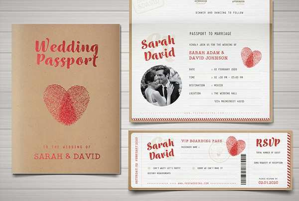 40 Blank Free Passport Wedding Invitation Template for Ms Word for Free Passport Wedding Invitation Template