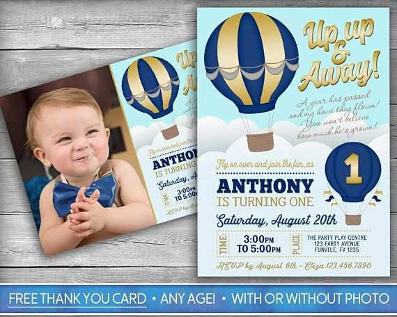 40 Blank Hot Air Balloon Birthday Invitation Template PSD File by Hot Air Balloon Birthday Invitation Template