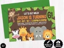 40 Blank Safari Birthday Invitation Template Free for Ms Word for Safari Birthday Invitation Template Free