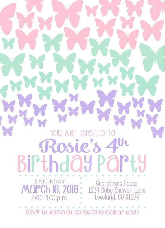 40 Create Birthday Invitation Template Butterfly Party in Word with Birthday Invitation Template Butterfly Party