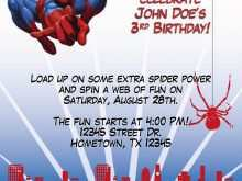 40 Creative Birthday Invitation Template Spiderman Photo for Birthday Invitation Template Spiderman