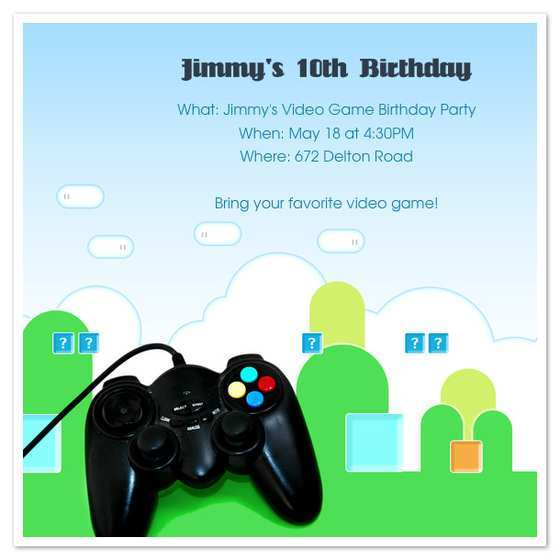 40 Creative Video Game Party Invitation Template in Photoshop by Video Game Party Invitation Template