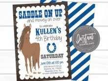 40 Customize Horse Birthday Invitation Template Templates with Horse Birthday Invitation Template