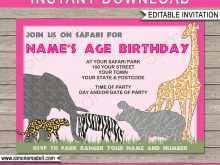 40 Customize Zoo Birthday Party Invitation Template With Stunning Design for Zoo Birthday Party Invitation Template