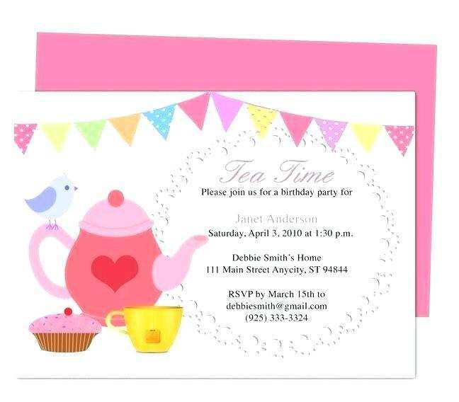 40 Online Afternoon Tea Invitation Template Blank Formating by Afternoon Tea Invitation Template Blank