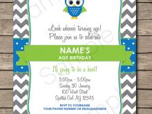 40 Online Owl Birthday Invitation Template Download for Owl Birthday Invitation Template