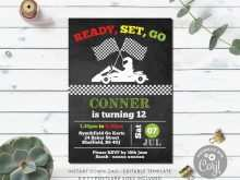 Go Kart Birthday Invitation Template