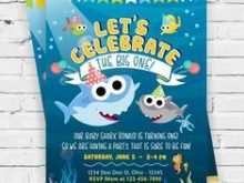 41 Adding Baby Shark Birthday Invitation Template Now by Baby Shark Birthday Invitation Template