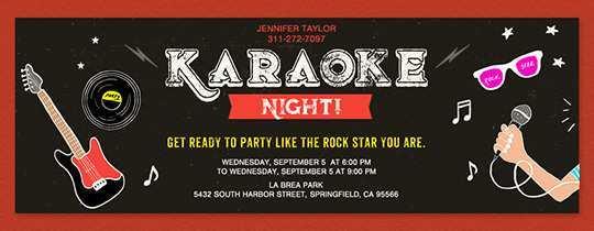 41 Adding Karaoke Party Invitation Template Download for Karaoke Party Invitation Template