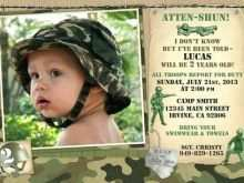Camouflage Party Invitation Template