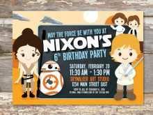 41 Blank Star Wars Birthday Invitation Template in Word by Star Wars Birthday Invitation Template