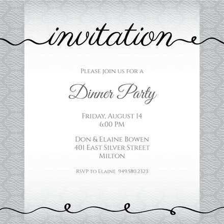 41 Creative Example Of Invitation Card For Dinner For Free with Example Of Invitation Card For Dinner
