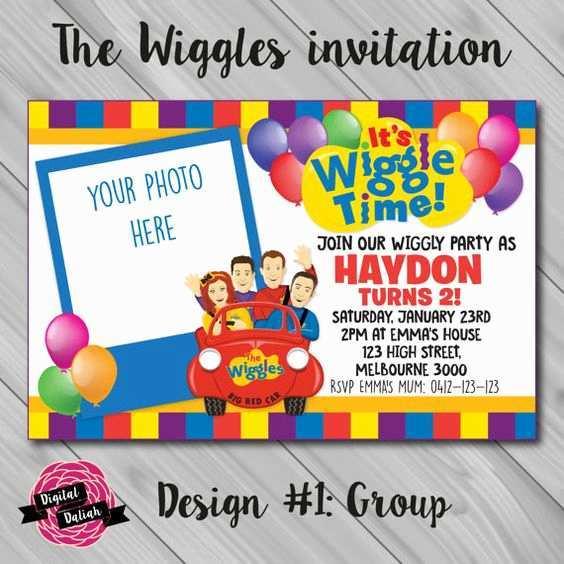 41 Creative Wiggles Birthday Invitation Template Photo by Wiggles Birthday Invitation Template