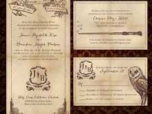41 Format Harry Potter Wedding Invitation Template For Free with Harry Potter Wedding Invitation Template