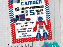 41 Free Printable Transformers Birthday Invitation Template in Photoshop for Transformers Birthday Invitation Template