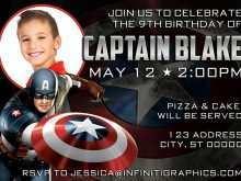 41 How To Create Captain America Birthday Invitation Template Now for Captain America Birthday Invitation Template