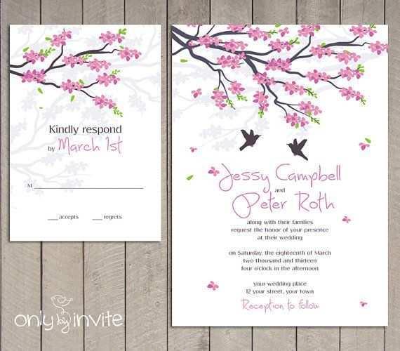 41 Online Cherry Blossom Wedding Invitation Template Now by Cherry Blossom Wedding Invitation Template