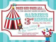 41 Online Circus Birthday Invitation Template Free Now with Circus Birthday Invitation Template Free