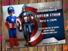 41 Standard Captain America Birthday Invitation Template Layouts with Captain America Birthday Invitation Template