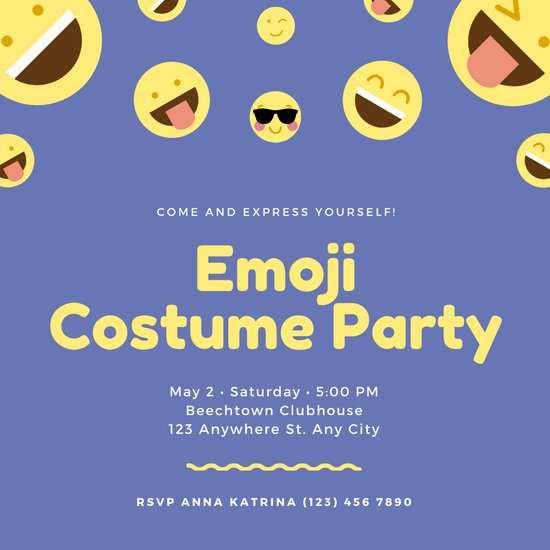 41 Visiting Birthday Invitation Template Emoji in Photoshop with Birthday Invitation Template Emoji