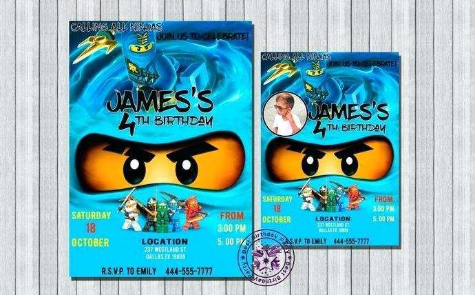 41 Visiting Ninjago Party Invitation Template For Free for Ninjago Party Invitation Template
