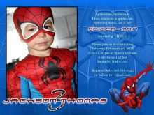 41 Visiting Spiderman Party Invitation Template Free in Word with Spiderman Party Invitation Template Free