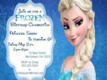 42 Adding Birthday Invitation Templates Elsa for Ms Word with Birthday Invitation Templates Elsa