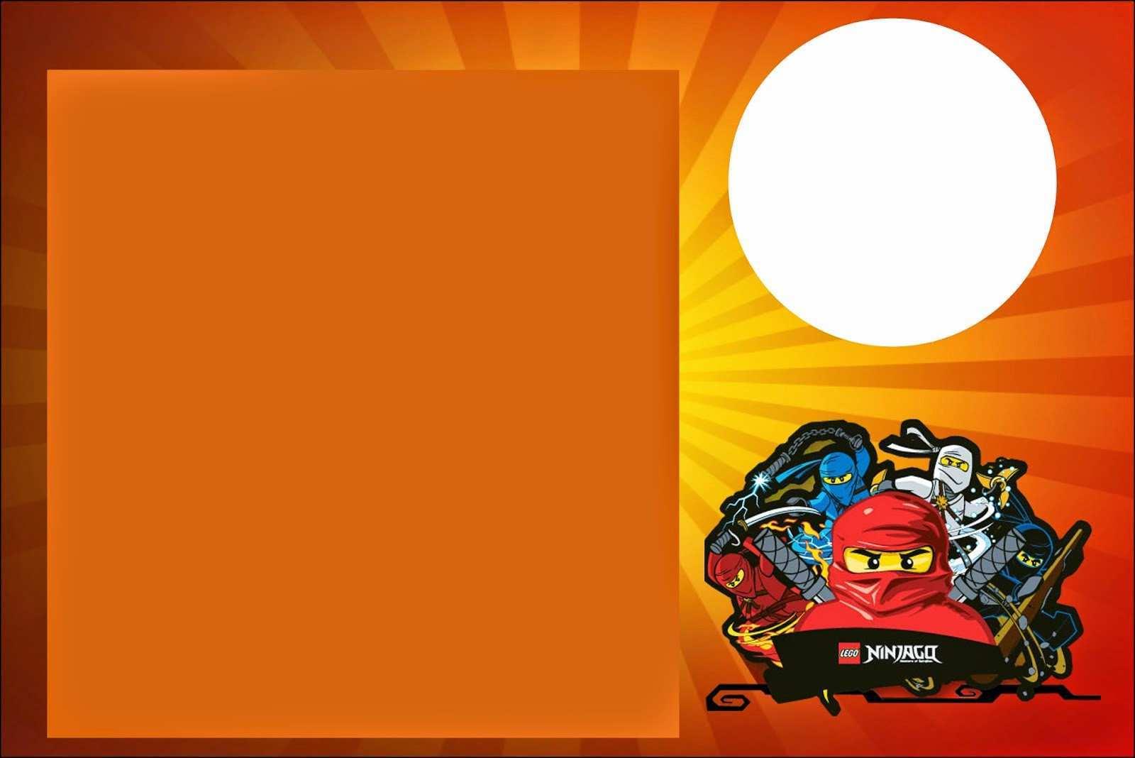 42 Best Ninjago Party Invitation Template in Photoshop by Ninjago Party Invitation Template