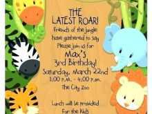 Zoo Birthday Invitation Template Free