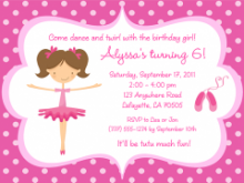 42 Create Ballerina Birthday Invitation Template Free Layouts with Ballerina Birthday Invitation Template Free