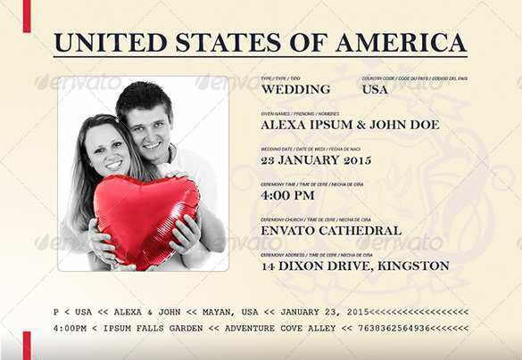 42 Free Printable Free Passport Wedding Invitation Template Download for Free Passport Wedding Invitation Template