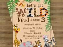 42 Free Printable Jungle Party Invitation Template Free in Word with Jungle Party Invitation Template Free