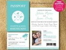 42 Printable Free Passport Wedding Invitation Template for Ms Word with Free Passport Wedding Invitation Template