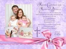 42 The Best Christening Invitation For Baby Girl Blank Template Maker with Christening Invitation For Baby Girl Blank Template
