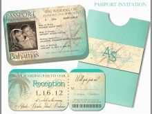 42 The Best Passport Wedding Invitation Template Uk Formating for Passport Wedding Invitation Template Uk