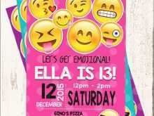 43 Adding Emoji Birthday Party Invitation Template Free Photo for Emoji Birthday Party Invitation Template Free