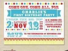 43 Best Circus Birthday Invitation Template Free Templates with Circus Birthday Invitation Template Free