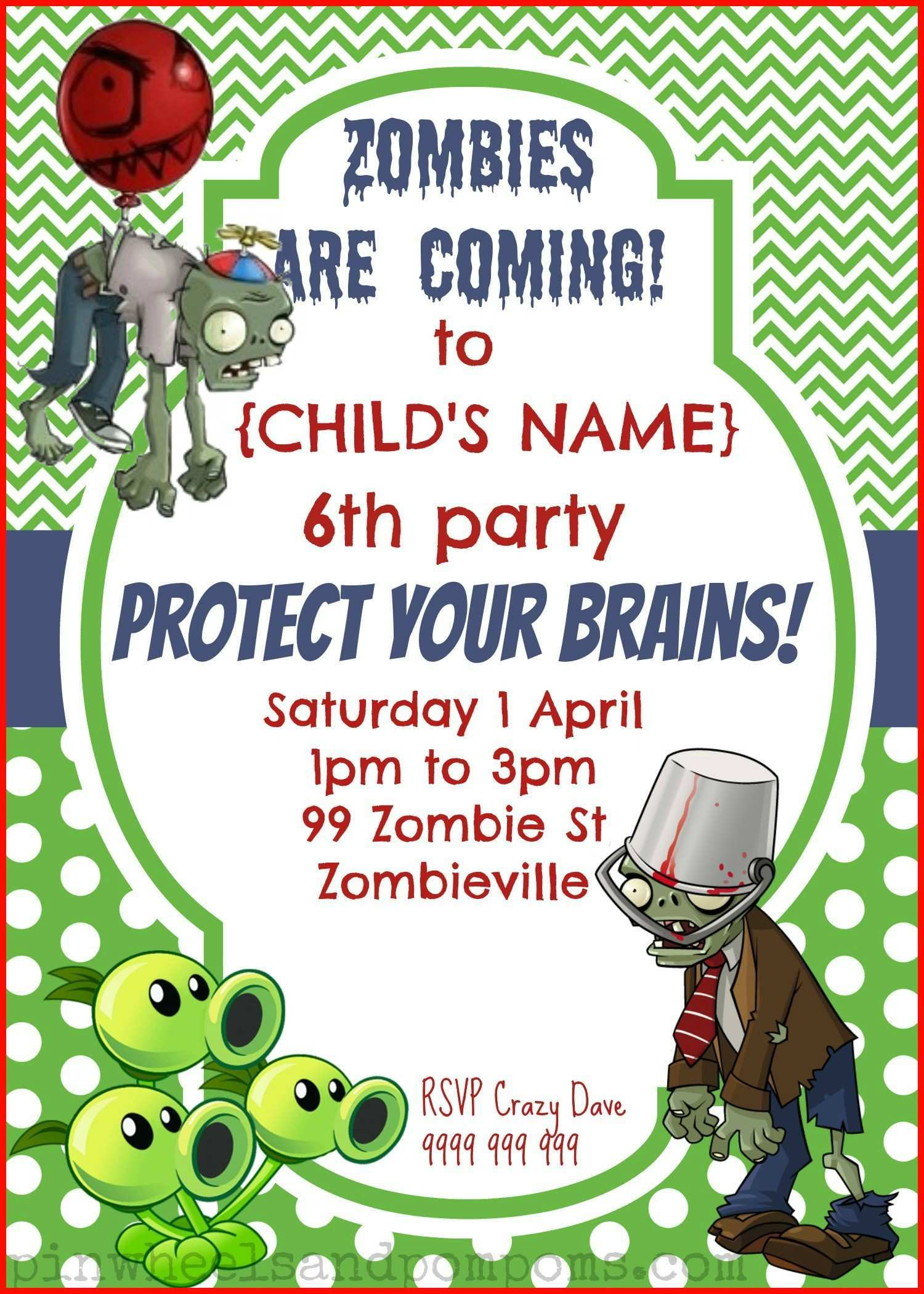 43 Blank Zombie Birthday Invitation Template For Free for Zombie Birthday Invitation Template