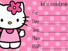 43 Creating Hello Kitty Blank Invitation Template Formating with Hello Kitty Blank Invitation Template