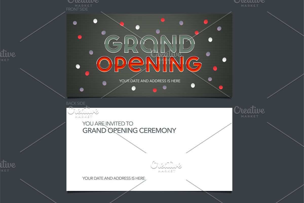 4 Creative Vector Invitation Template Zip PSD File with Vector