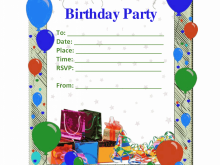 43 Format Birthday Invitation Template For Boy in Word for Birthday Invitation Template For Boy