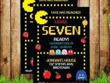 43 Format Pac Man Birthday Invitation Template Maker by Pac Man Birthday Invitation Template